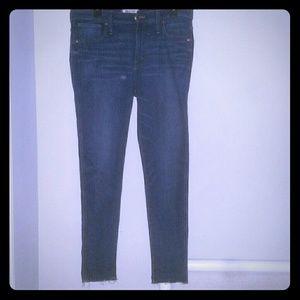 "Madewell 9"" High Rise Skinny Jeans  32 J6515"